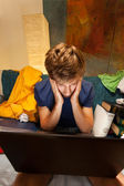 Student suffering from tiredness — Stock Photo