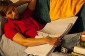 学生睡觉 — 图库照片