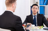Diverse workers during lunch — Stock Photo