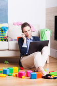 Mother before going to work — Stock Photo