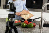 Culinary program in television — Stock Photo