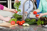 People have kitchen party — Stock Photo