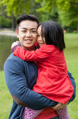 Pai amoroso com a filha — Fotografia Stock