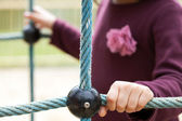 Girl on a playground — Stock Photo