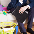 Tired businessman at house — Stock Photo #51730233