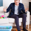 Businessman gets upset at mess — Stock Photo #51730415