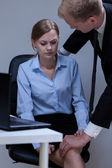 Problem of sexual harassment at work — Stock Photo