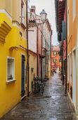 Typical italian street in Caorle — Foto Stock