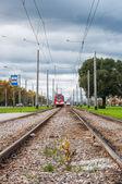 Рельсы трамвая — Стоковое фото