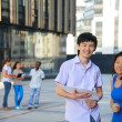 Two smiling asian students  — Stock Photo