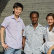 Portrait of african, asian and european students — Stock Photo