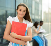 Happy smiling student girl — Stock Photo