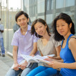 Group portrait of asian university students — Stock Photo