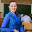 Stock Photo: Portrait of beautiful teacher