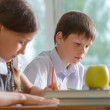 Stock Photo: Diligent schoolchildren