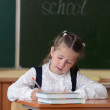 Stock Photo: Little pretty schoolgirl