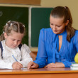 Little pretty schoolgirl — Stock Photo