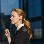 Portrait of destressed businesswoman. — Stock Photo