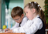 Good schoolchildren — Stock Photo