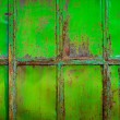 Rusty green painted metal with cracked paint, texture color grunge background — Stock Photo