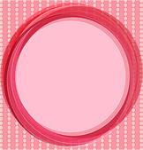 Pop art background in pink. Invitation card with pink and beige circles. — Stock Vector