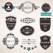 Royalty-Free Stock Vector Image: Set of retro labels