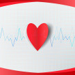 Heart and electrocardiogram - Stock Vector