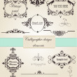Calligraphic design elements and page decoration  — Imagen vectorial