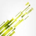 Arrows vector background. Eps 10 — Stock Vector