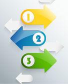Next step arrow boxes — Stock Vector