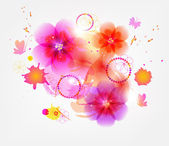 Floral Background vector — Vecteur