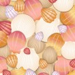Abstract shells background. Vector illustration - Stock Vector