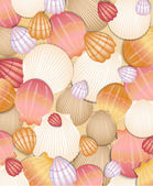 Abstract shells background. Vector illustration — Stock Vector