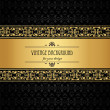 Vintage background, antique, beautiful old paper, card, ornate cover page, label. floral luxury ornamental pattern template for design — Stock Vector