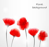 Background with abstract poppies — Stock Vector