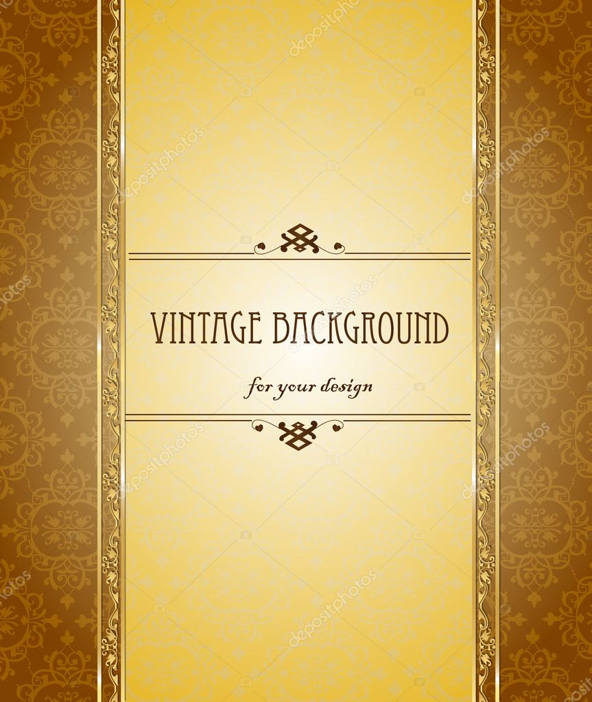 vintage background antique beautiful old paper card ornate vintage background antique beautiful old paper card ornate cover page label floral luxury or ntal pattern template for design vector by tandav