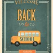 Back to School Typographic Elements. — Stock Vector