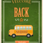 Back to School Typographic Elements. — Stock Vector