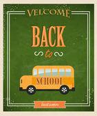 Volver a la escuela elementos tipográficos. — Vector de stock