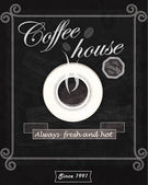 Coffee house card. Vector. — Stockvektor