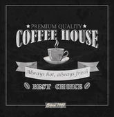 Coffee house card. Vector. — Vettoriale Stock