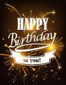 Birthday Card with vintage inscription — Stock Vector