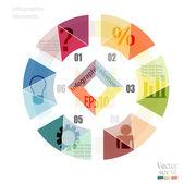 现代设计最小圆形样式信息图表模板 — 图库矢量图片