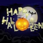 Happy Halloween message design background — Stock Vector