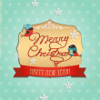 Typography Christmas Greeting Card. Merry Christmas. — Stock Vector