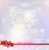 Merry Christmas and Happy New Year greeting card design. — Stock Vector