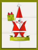 Santa wishes you a Happy New Year — Stock Vector