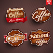 Stock Vector: Coffee label, badge or seal