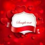 Valentine's card with hearts — Wektor stockowy