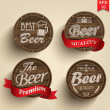 Set of beer product logo labels — Vector de stock